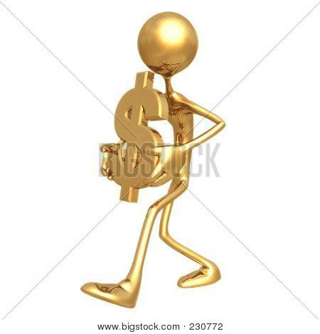 Carregam o símbolo do dólar 01