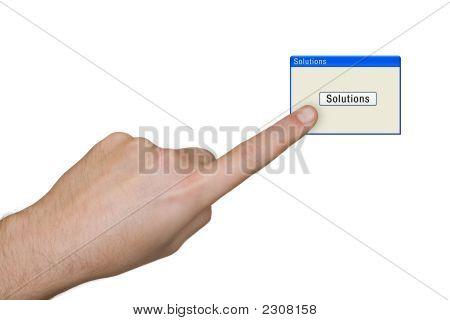 Mano y soluciones de botón