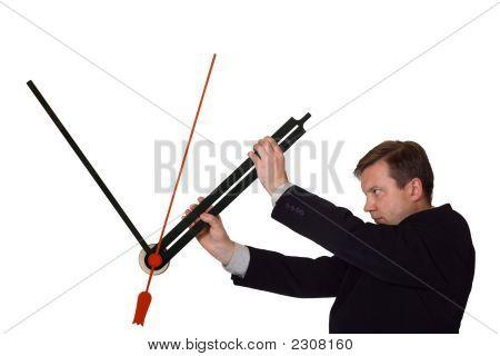 Businessman Stop Time