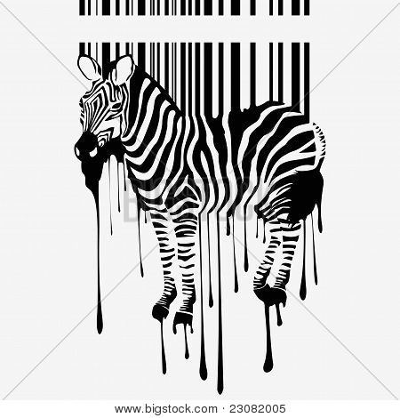 the abstract vector zebra silhouette