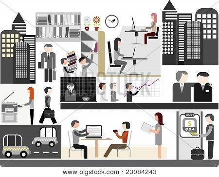Office - Vector Illustration