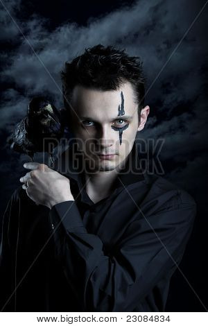Spooky Man With Crow