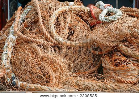 Fishing nets closeup