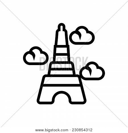 poster of Eiffel Tower Vector Icon On White Background. Eiffel Tower Modern Icon For Graphic And Web Design. E