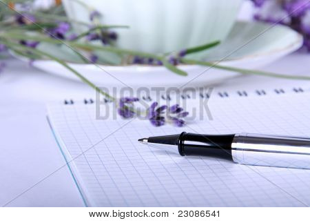 Ballpoint And Blank Recipe Book