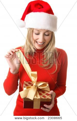 Female Opening A Present