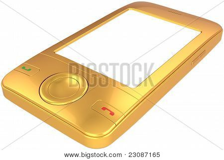 Golden mobile phone smart-phone generic
