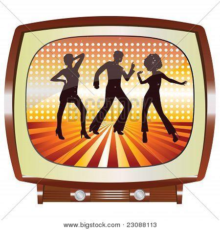 Disco tv vector
