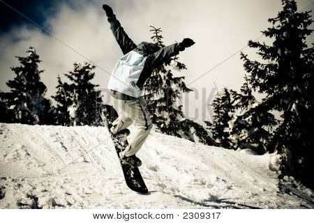 Snowboard In Air