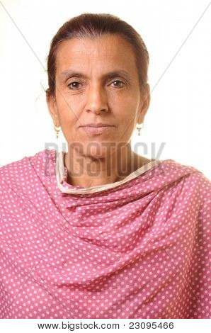 South Asian senior woman portrait
