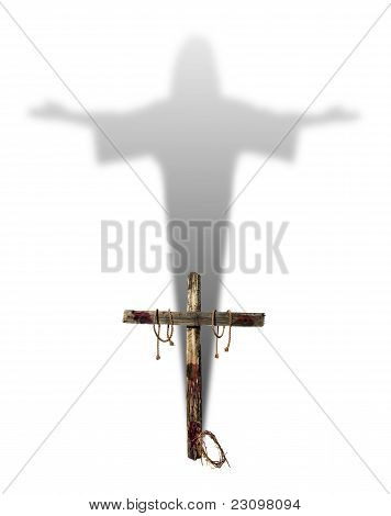 Cross With Christ Shadow