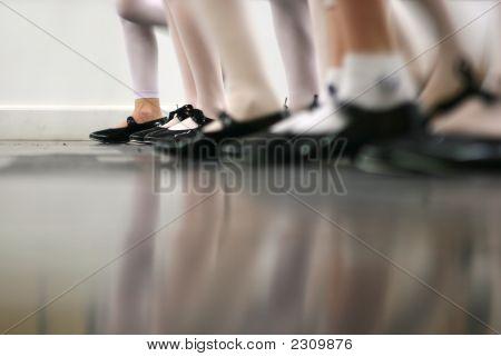 Tap Dance Class In Motion