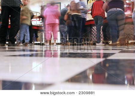 Eine Linie verschwommen Cafeteria