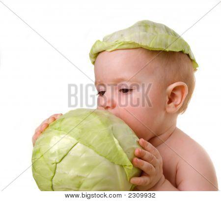 Tries Vegetable On Taste