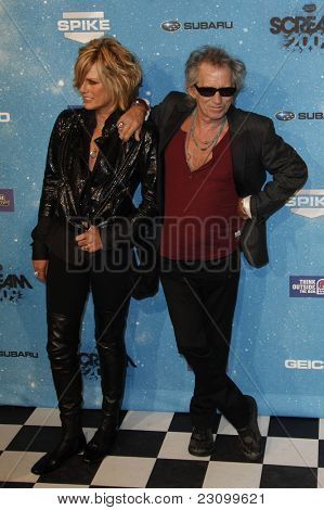 LOS ANGELES - OCT 17: Keith Richards and wife at the Spike TV's
