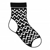 Ornament Sock Icon. Simple Illustration Of Ornament Sock Vector Icon For Web poster