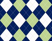 Blue White And Green Argyle