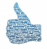 foto of follow-up  - Thumbs up like button on white background - JPG