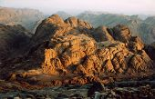 image of jabal  - Sunrise at summit of Mount Sinai in Egypt - JPG