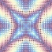Geometric Square Symmetric Abstract Pattern In Low Poly Pixel Art Style. Polka Dot Pattern On Low Po poster