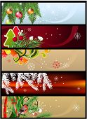 stock photo of merry christmas text  - Christmas banners with space for your text - JPG