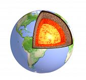 picture of earth structure  - Structure of the Earth - JPG