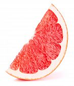 Grapefruit Fruit Slice Isolated On The White Background With Clipping Path. One Of The Best Isolated poster