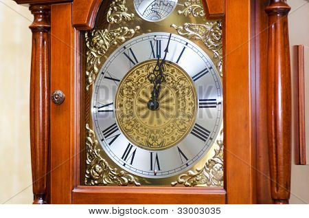 Old clock close up photo - time concept