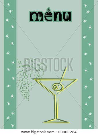 Bar Restaurant Menü Entwurfsvorlage