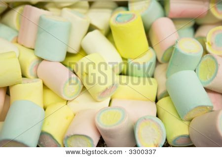 Multi-Colored Marshmallow Pile