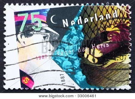 Postage stamp Netherlands 1987 Salvation Army and Homeless