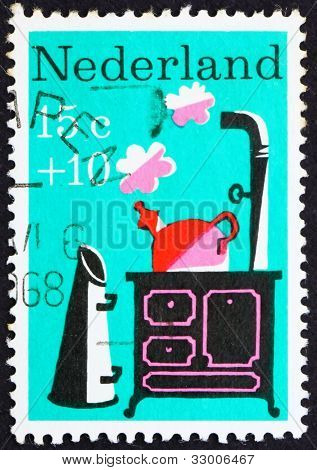Postage stamp Netherlands 1967 Little Whistling Kettle, Nursery