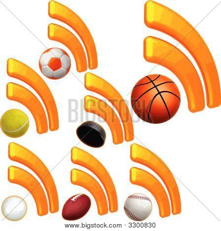 Sports Rss Icon Set