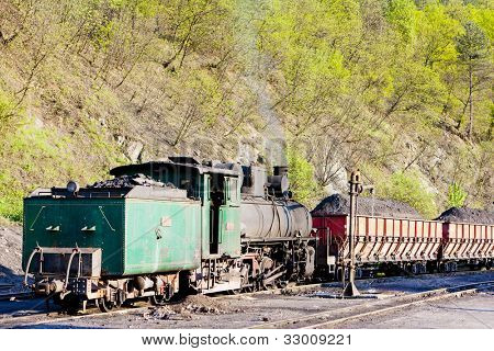 steam freight train, delivery point in Oskova, Bosnia and Hercegovina