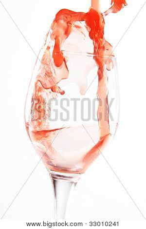 liquid pour and splash in a glass