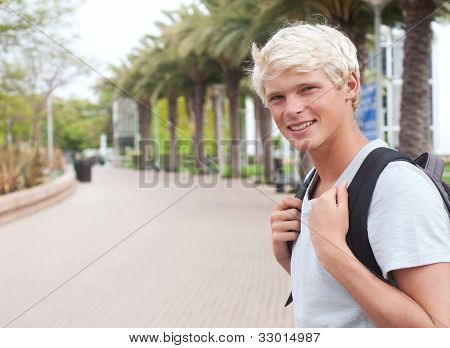 Young Teenage College Student