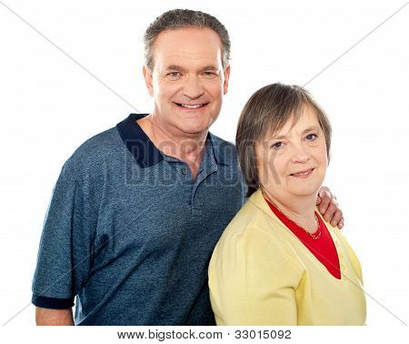 Portrait Of An Aged Smiling Couple