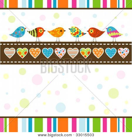 Template greeting card, vector illustration