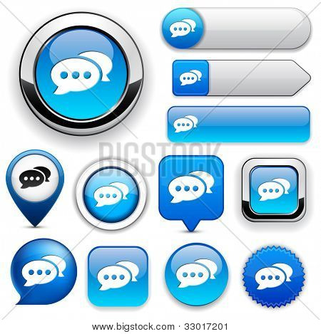 Forum blue design elements for website or app. Vector eps10.