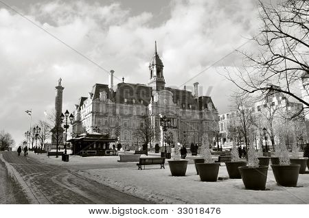 Main Building of the City Hall in Old Montreal.