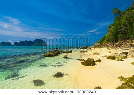 Beach Holiday Sunshine Scene