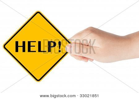 Help Traffic Sign With Hand