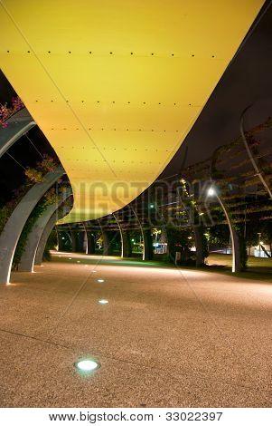 Southbank footpath at night - Brisbane - Australia