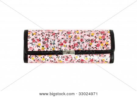Glasses Case With Flower Texture On White