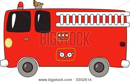 Cartoon Firetruck