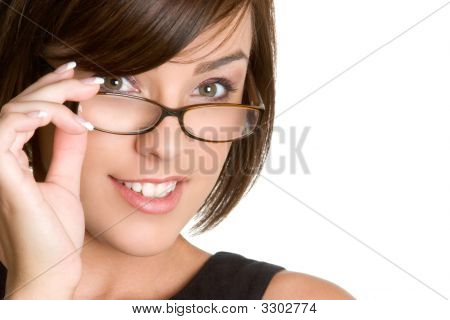 Eye Glass Businesswoman