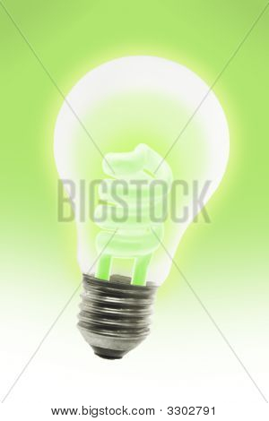 Glowing Energy Saving Electric Light Bulb