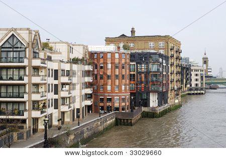 Apartments. River Thames. London. UK