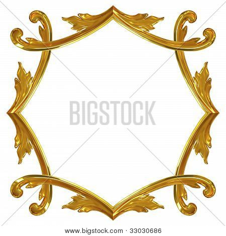 3D Gold Ornate