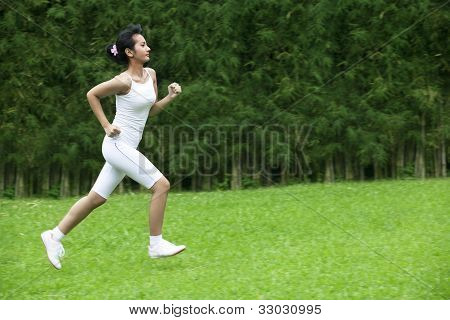 Beautiful Woman Jogging Outdoor